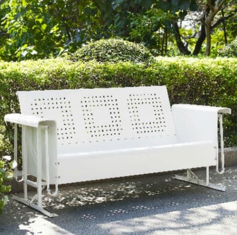 Crosley Battes Outdoor Sofa Glider - White   moneymachines.com