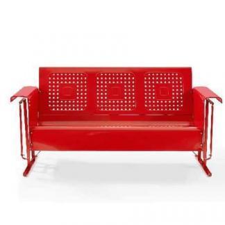 Crosley Battes Sofa Glider - Red | moneymachines.com