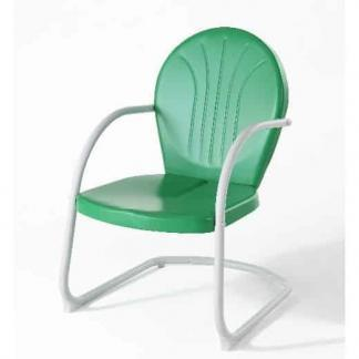 Crosley Griffith Metal Outdoor Chair - Grasshopper Green Finish | moneymachines.com