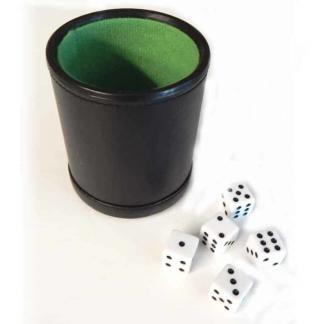 Deluxe Leather Dice Cup and Dice Set | Deluxe Leather Dice Cup and Dice Set