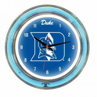 Duke Blue Devils Neon Wall Clock | Moneymachines.com
