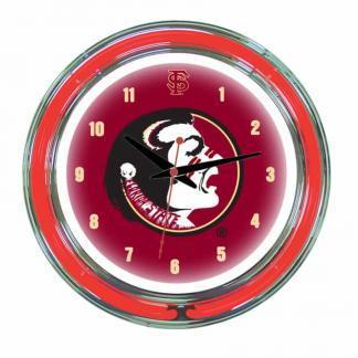 Florida State Seminoles Neon Wall Clock | Moneymachines.com