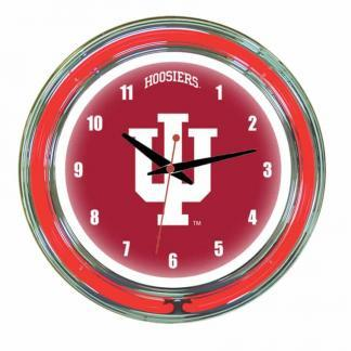 Indiana Hoosiers Neon Wall Clock | Moneymachines.com