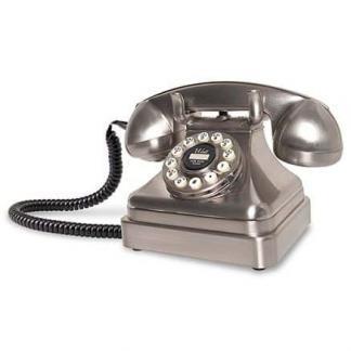 Kettle Classic Desk Phone - Brushed Chrome - CR62-BC | moneymachines.com