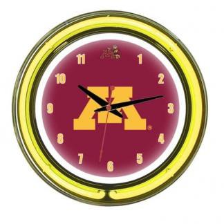 Minnesota Golden Gophers Neon Wall Clock | Moneymachines.com