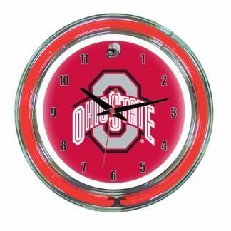 Ohio State Buckeyes Neon Wall Clock | Moneymachines.com