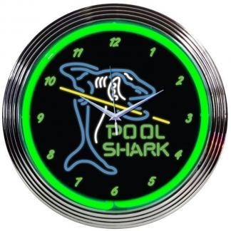Pool Shark Neon Wall Clock | moneymachines.com