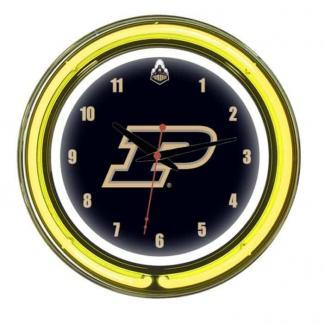 Purdue Boilermakers Neon Wall Clock | Moneymachines.com