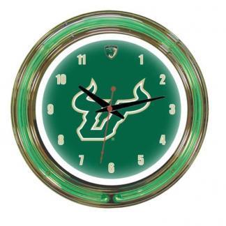 South Florida Bulls Neon Wall Clock | Moneymachines.com