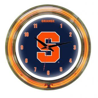 Syracuse Orange Neon Wall Clock | Moneymachines.com