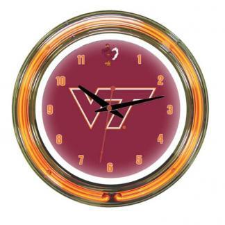 Virginia Tech Hokies Neon Wall Clock | Moneymachines.com