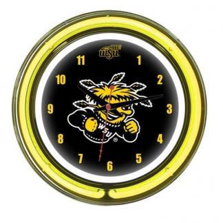 Wichita State Shockers Neon Wall Clock | Moneymachines.com