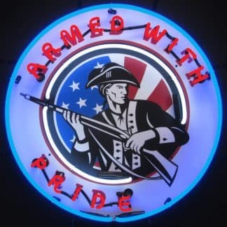 ARMED WITH PRIDE NEON SIGN – 5GUNAR | moneymachines.com