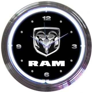 AUTO – DODGE RAM NEON CLOCK – 8RAMXX   moneymachines.com