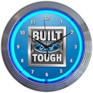 AUTO – FORD – BUILT FORD TOUGH NEON CLOCK – 8FRBFT | moneymachines.com