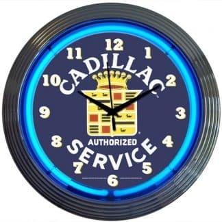 AUTO – GM – CADILLAC SERVICE NEON CLOCK – 8CADSR   moneymachines.com