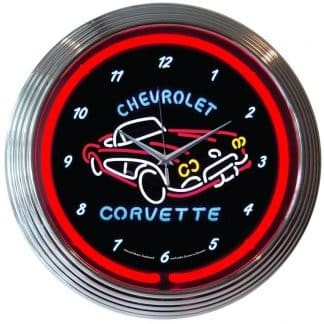 AUTO – GM – CORVETTE C1 NEON CLOCK – 8CORV1   moneymachines.com