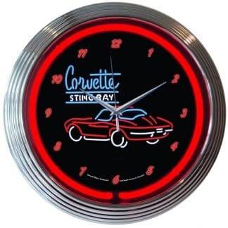 AUTO – GM – CORVETTE C2 NEON CLOCK – 8CORV2   moneymachines.com