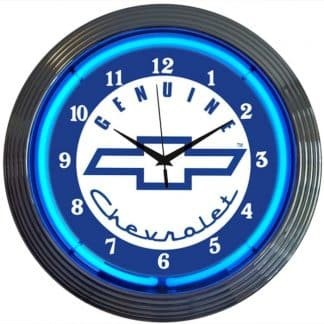 AUTO – GM – GENUINE CHEVROLET NEON CLOCK – 8CHEVY | moneymachines.com