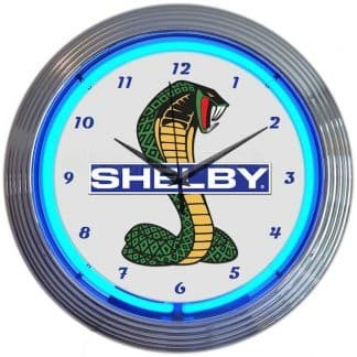 AUTO – SHELBY COBRA FORD OLP MUSTANG NEON CLOCK – 8SHLBY | moneymachines.com