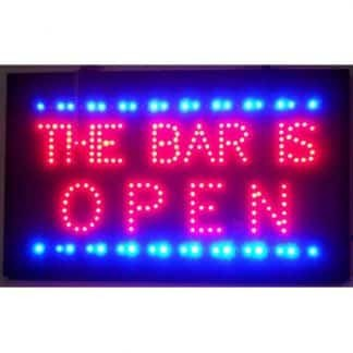 BAR IS OPEN LED SIGN – 5BRLED | moneymachines.com