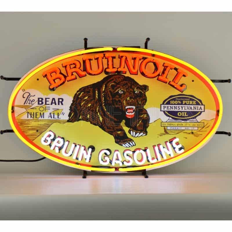 BRUINOIL BRUIN GASOLINE NEON SIGN – 5GSBRN | moneymachines.com