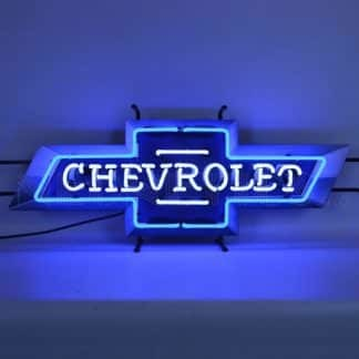 CHEVROLET BOWTIE NEON SIGN WITH BACKING – 5CHEVB | moneymachines.com