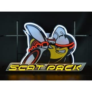 DODGE SCAT PACK NEON SIGN WITH BACKING – 5SCATB | moneymachines.com