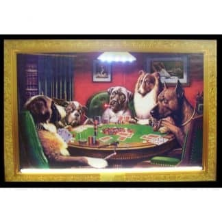 DOGS PLAYING POKER NEON/LED – 3DOGPK | moneymachines.com