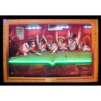 DOGS PLAYING POOL NEON/LED – 3DOGNL | moneymachines.com