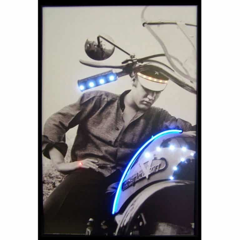 ELVIS ON MOTORCYCLE NEON/LED – 3ELVIS | moneymachines.com