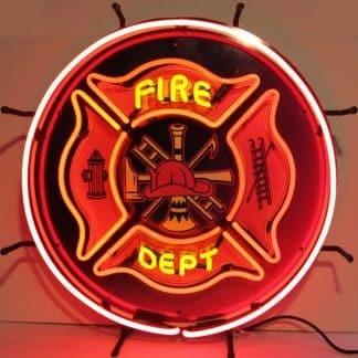 FIRE DEPARTMENT NEON SIGN – 5FIRED | moneymachines.com