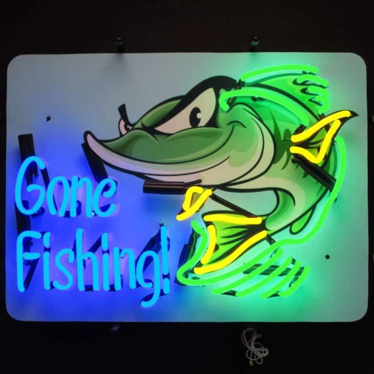 GONE FISHING NEON SIGN – 5GFISH | moneymachines.com