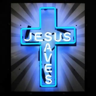 JESUS SAVES NEON SIGN – 5JSAVES | moneymachines.com