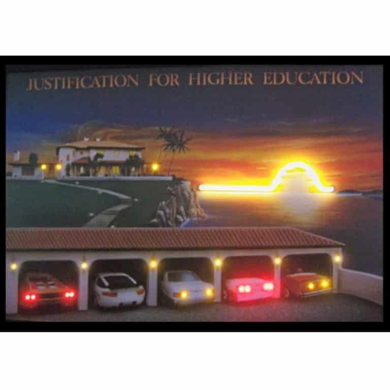 JUSTIFICATION FOR HIGHER EDUCATION NEON/LED Picture – 3JUSTI   moneymachines.com