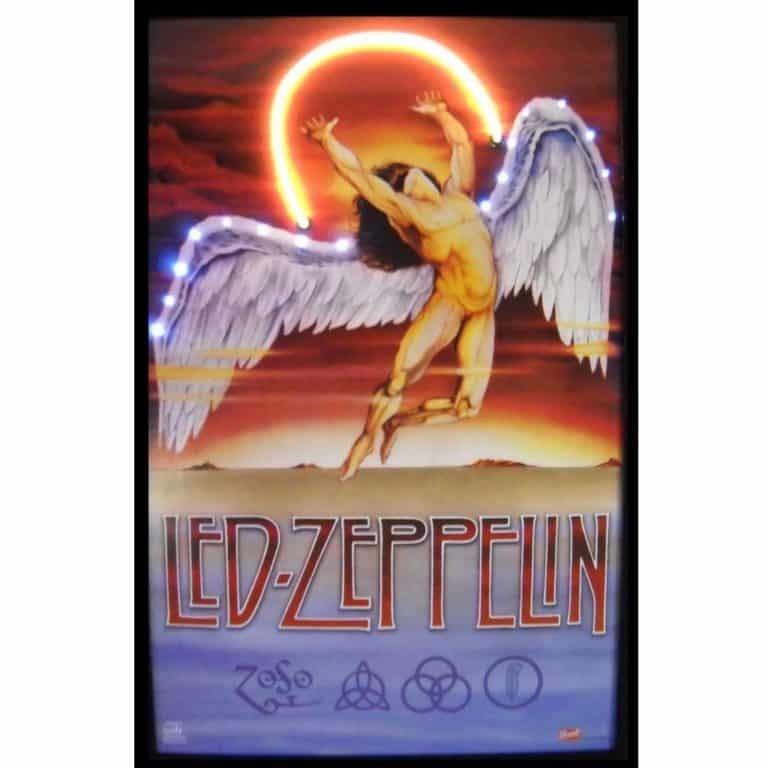 LED ZEPPELIN NEON/LED POSTER – 3ZEPLI | moneymachines.com