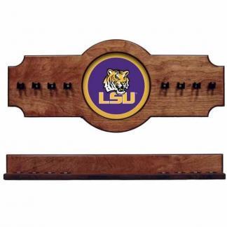Louisiana State University 2-Piece Cue Rack Pecan   Moneymachines.com