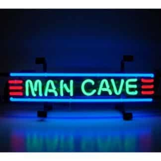 MANCAVE RED, GREEN AND BLUE NEON SIGN – 5MANCS   moneymachines.com
