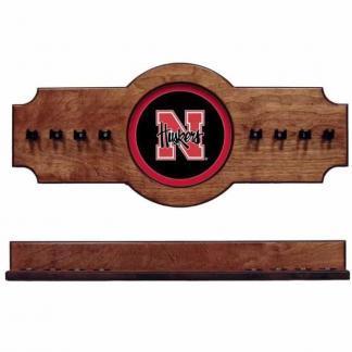 Nebraska 2-Piece Cue Rack Pecan | Moneymachines.com