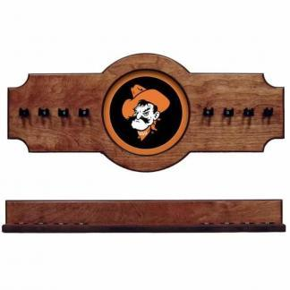 Oklahoma State 2-Piece Cue Rack Pecan | Moneymachines.com