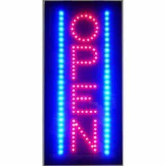OPEN VERTICAL LED SIGN – 5OVLED | moneymachines.com