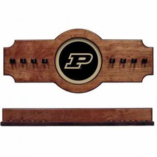 Purdue 2 Pc Hanging Cue Rack Pecan | Moneymachines.com
