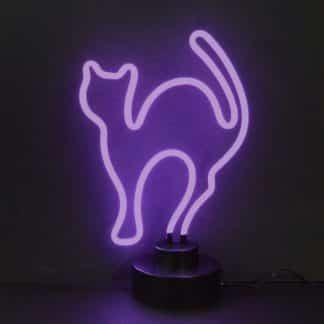 PURPLE CAT NEON SCULPTURE – 4CATMM   moneymachines.com