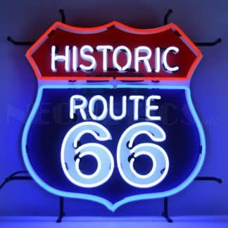 ROUTE 66 NEON SIGN WITH BACKING – 5RT66B | moneymachines.com