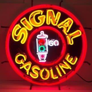 SIGNAL GASOLINE NEON SIGN – 5GSSIG   moneymachines.com