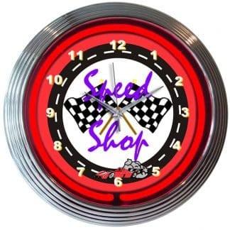 SPEED SHOP NEON CLOCK – 8SPEED | moneymachines.com