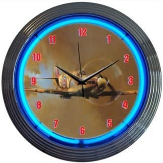 SPIT FIRE TIGER WWII NEON CLOCK – 8SPITF | moneymachines.com