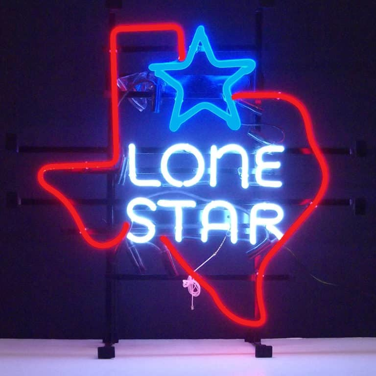 TEXAS LONE STAR NEON SIGN – 5TXSTR | moneymachines.com