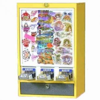 Impulse 3 Column Sticker Tattoo Vending Machine   moneymachines.com