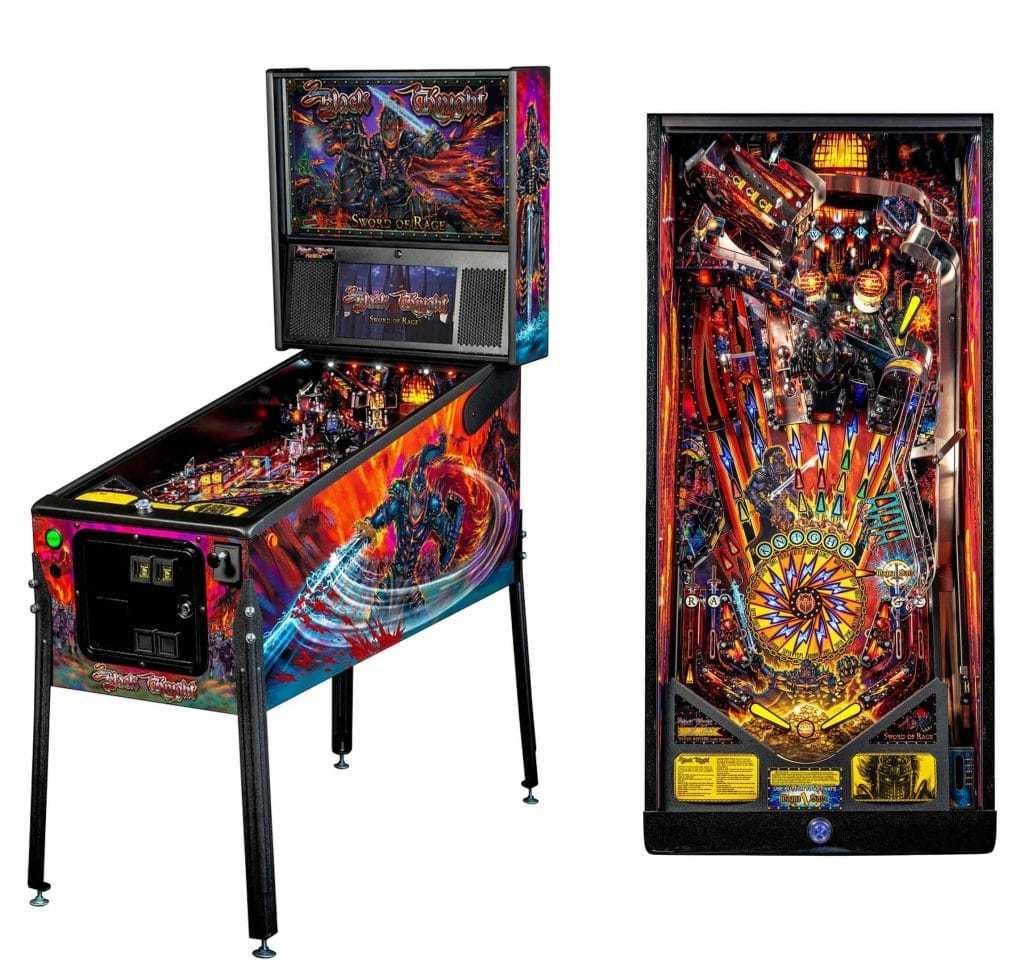 Stern Black Knight Sword Of Rage Premium Pinball Game Machine   moneymachines.com